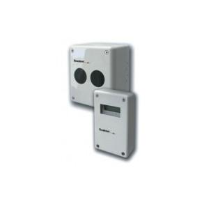 Dét optique lineaire conv motorisé autoalignable - émetteur + réflecteur moyenne portée + boitier de contrôle au sol