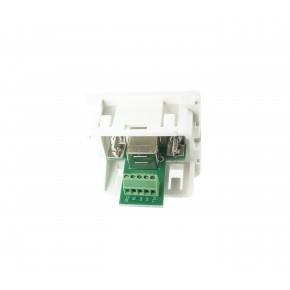Plastron 45x45 USB B F bornier à visser