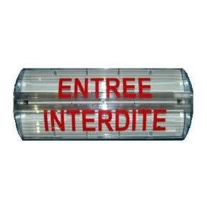 """Affiche lumineuse étanche - Feu flash au xénon 12/24v """"entrée interdite"""""""