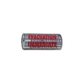 """Affiche lumineuse étanche - Feu flash au xénon 12/24v """"évacuation immediate"""""""
