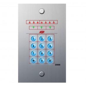 Clavier encastré 13 codes 3 sorties (façade grise)