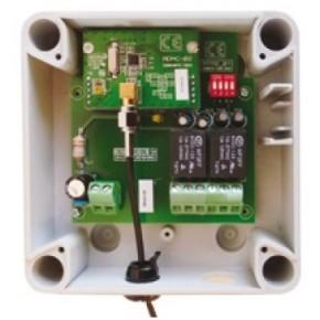 Réc radio portée 50m, 2 relais CRT 5A en boitier ABS IP54 pour télécde T245 et clavier RXSOLAR