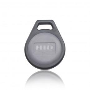 Badge PROXKEY format porte-clefs gris - numérotation séquentielle imprimée