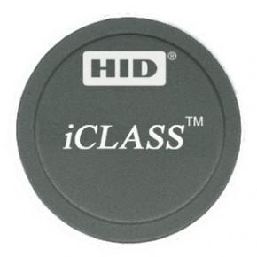 Badge ICLASS format Tag adhésif noir - 2K avec 2 secteurs - numérotation séquentielle imprimée